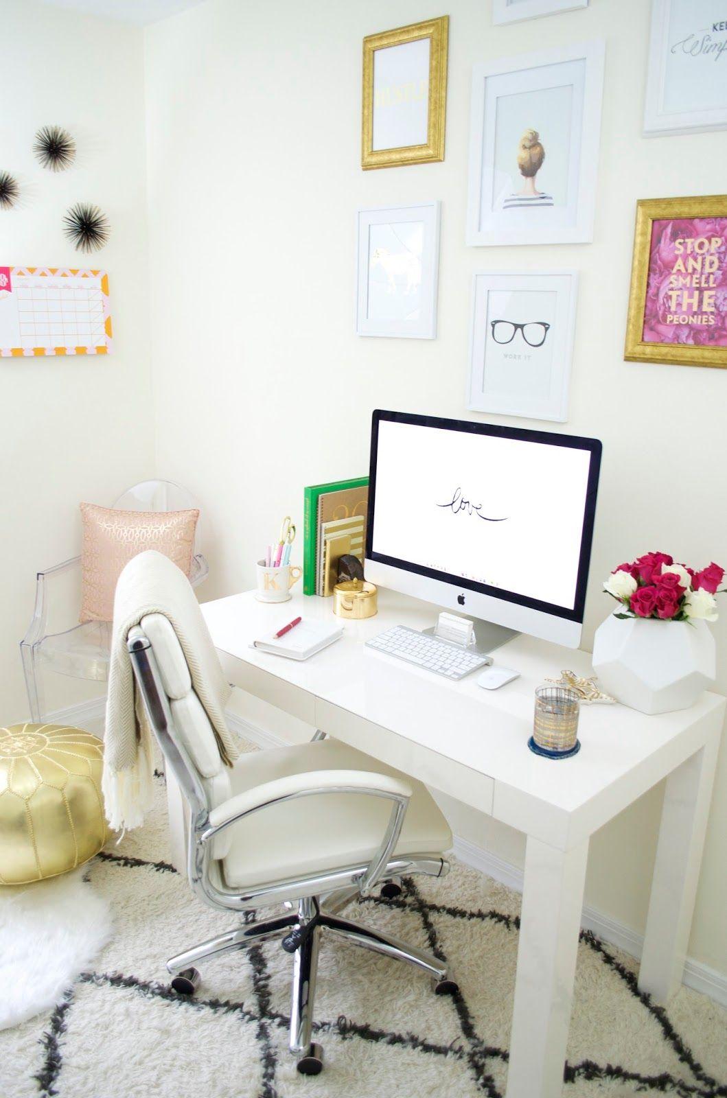 Office decor with luluandgeorgia - Creative office desk ideas ...