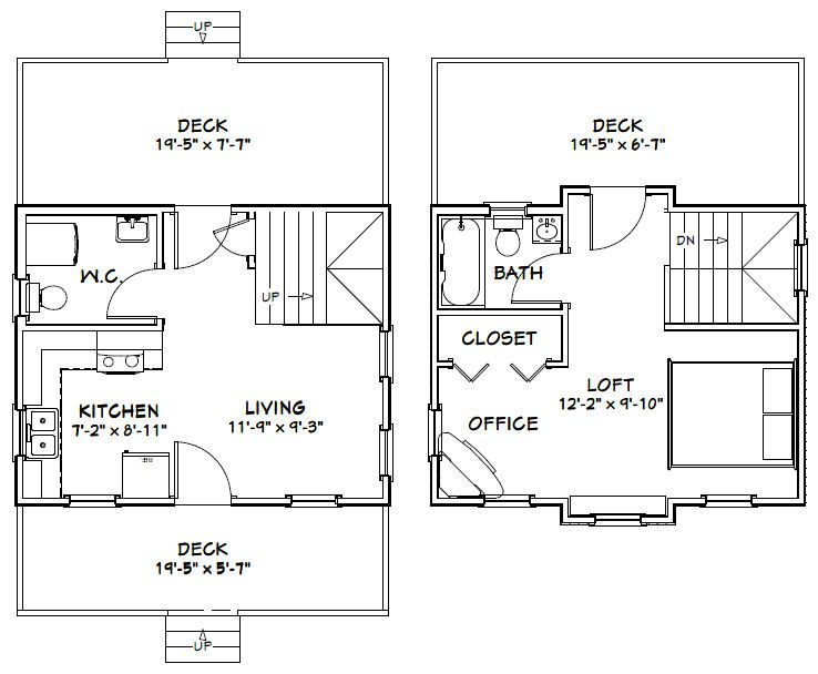 20 X 16 Ft House Plans on 16x32 home plans