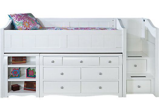 gabriella winter white twin jr loft bed w dresser bookshelf rh pinterest com