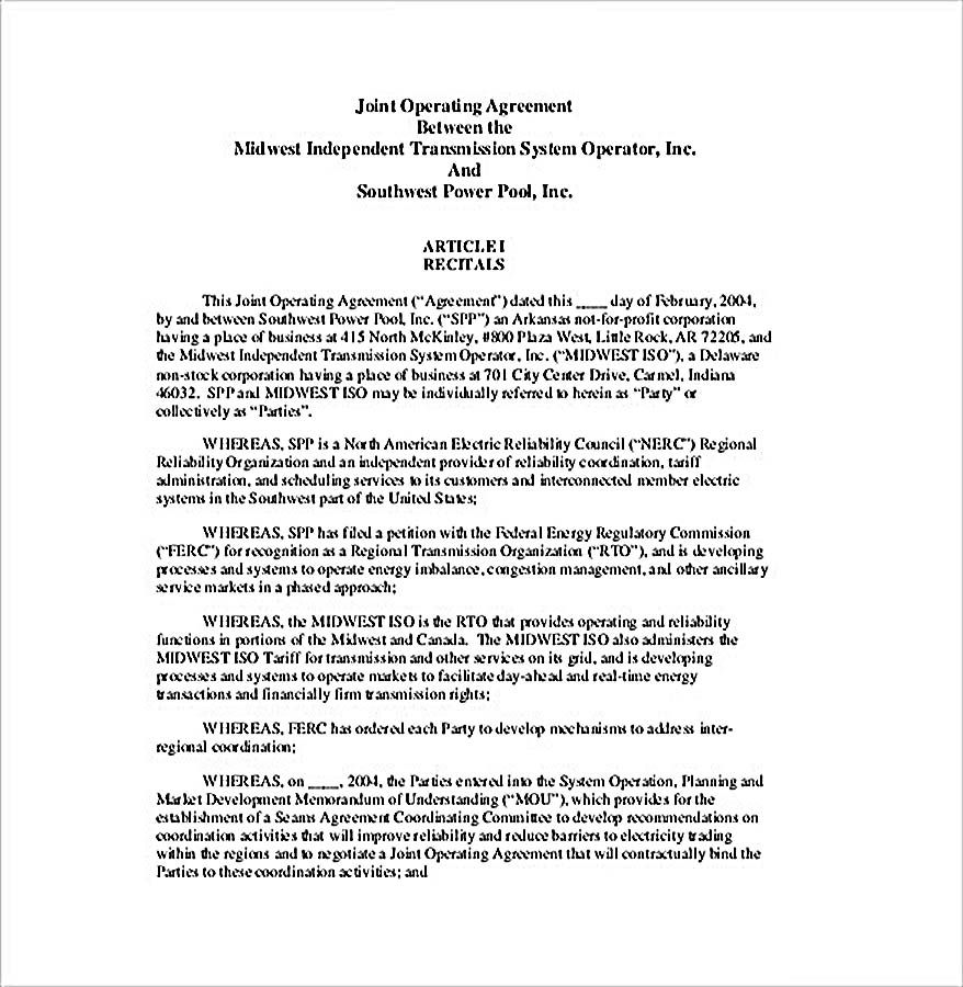11 Operating Agreement Template For A Secure Company Management