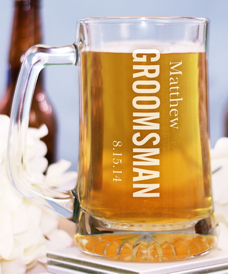 take a look at this groomsman personalized beer mug today cups