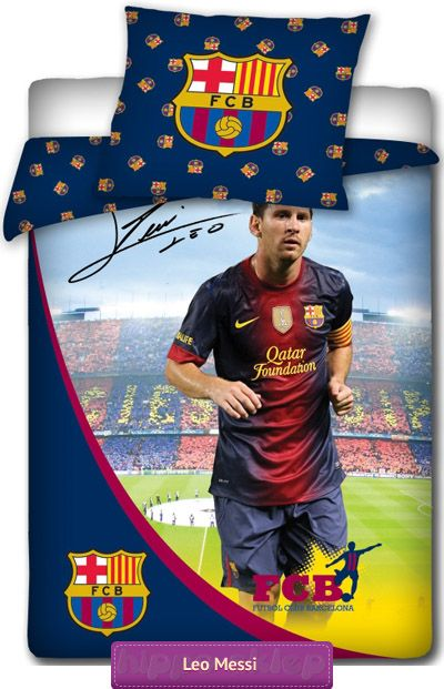 Bedding FC Barcelona Messi 2 original licensed children bedding set for  boys an football fans with… Find this Pin and ... 19846e9c31e61