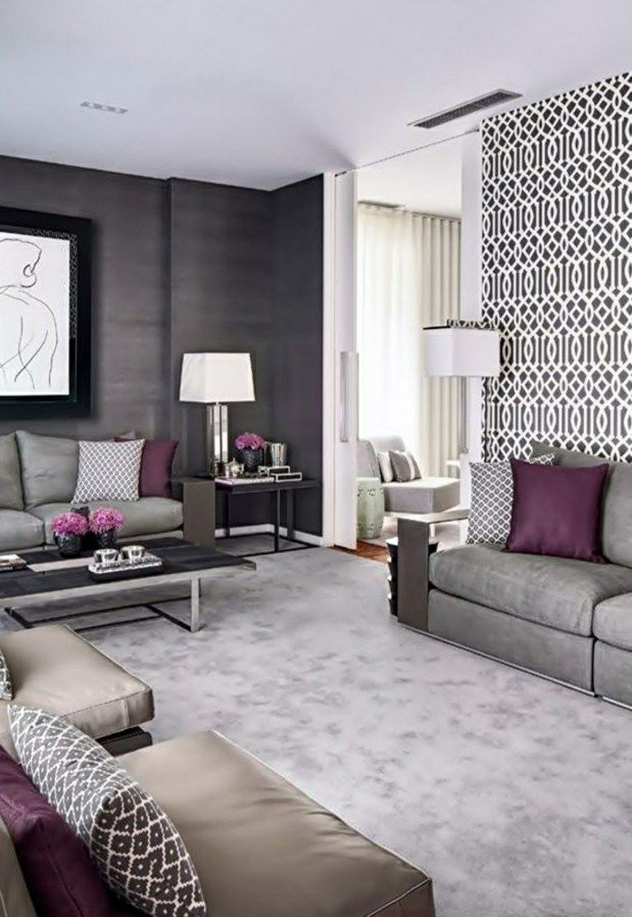 Wallpaper Ideas Living Room Accent Wall Elegant Living Room