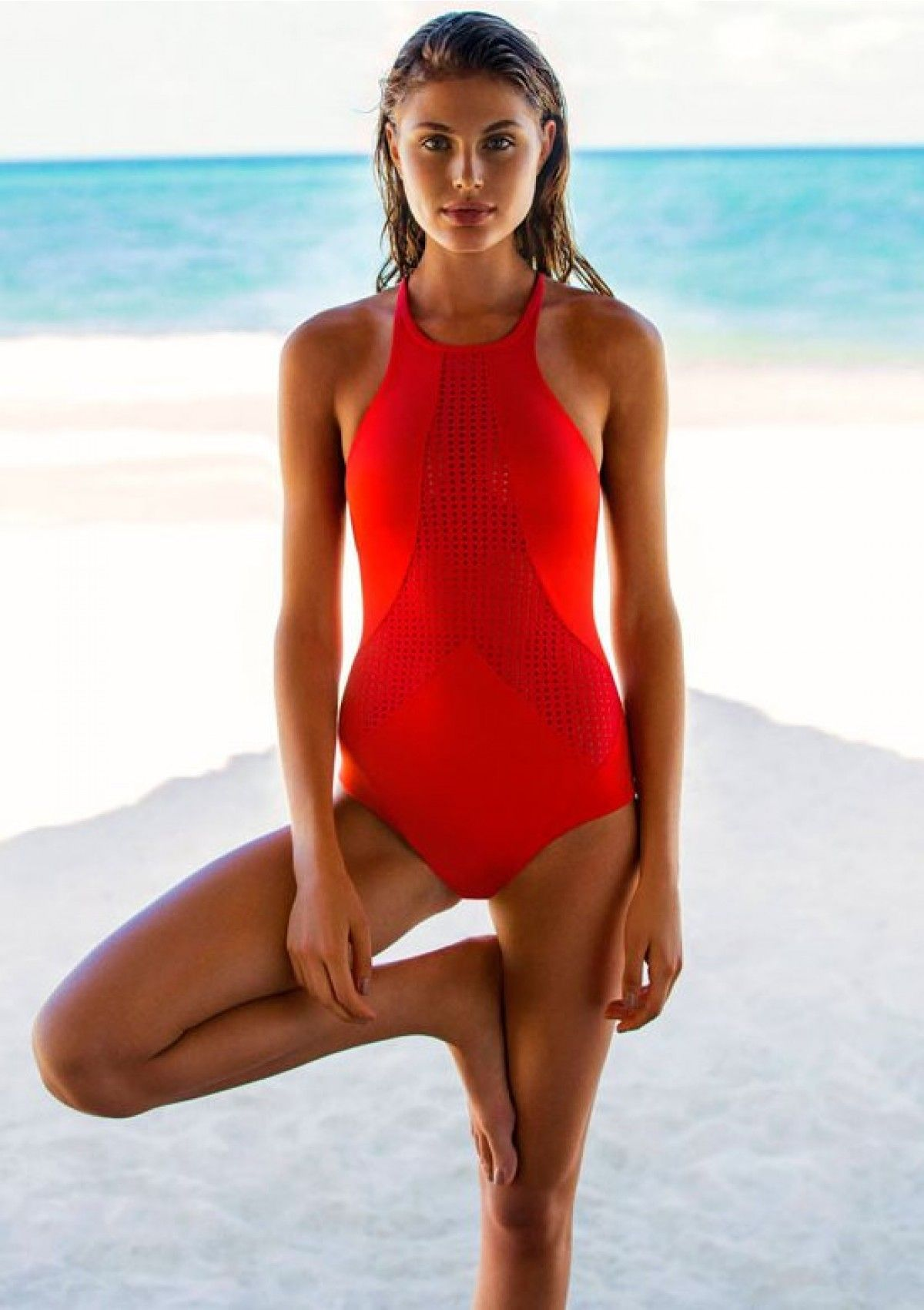 2016 Vitamin A Swimwear Rayna Maillot in Red