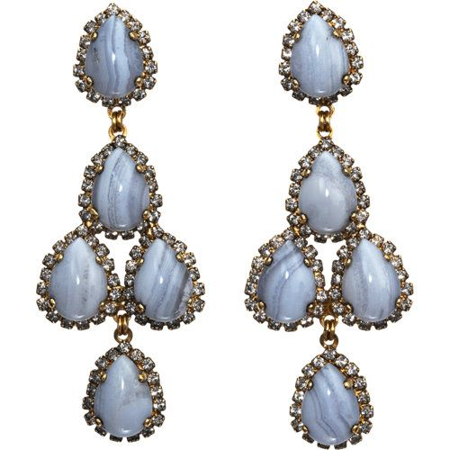dusty blue chandelier earrings | Krista's Big Day ...