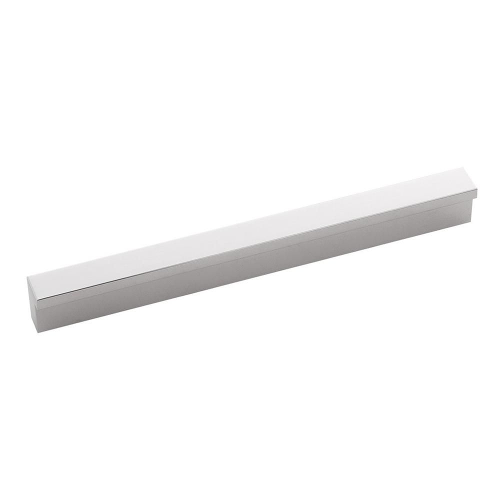 Hickory Hardware Streamline 5 1 16 In 128 Mm Center To Center Glossy Nickel Cabinet Door Drawer Pull Hickory Hardware Hardware Cabinet Doors