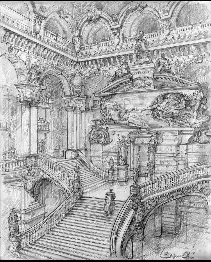 Fantasy Architectural Urban Sketches