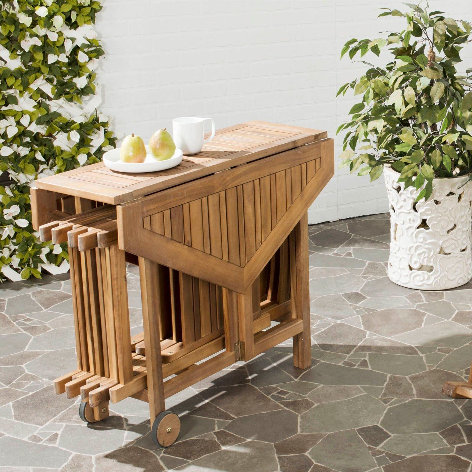 Remarkable Outdoor Collapsible Dining Table Set By Safavieh Wedding Gmtry Best Dining Table And Chair Ideas Images Gmtryco