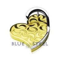 "PIN IT TO WIN IT! Engraved Heart:  Engraved Heart pendant representing the love that binds. The Engraved Heart is a stainless steel PVD gold ""3D"" moon engraved heart pendant with modern design.    $29.99  www.buybluesteel.com"
