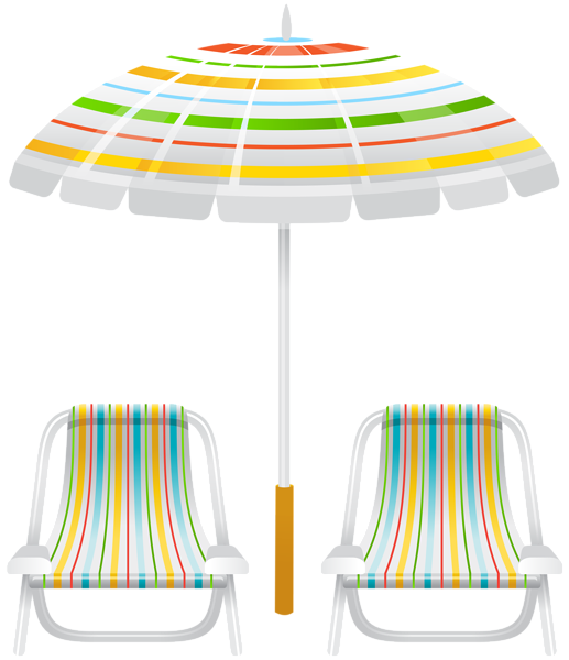Beach Umbrella And Two Chairs Png Clip Art Image Art Chair Yellow Chair Wicker Dining Chairs