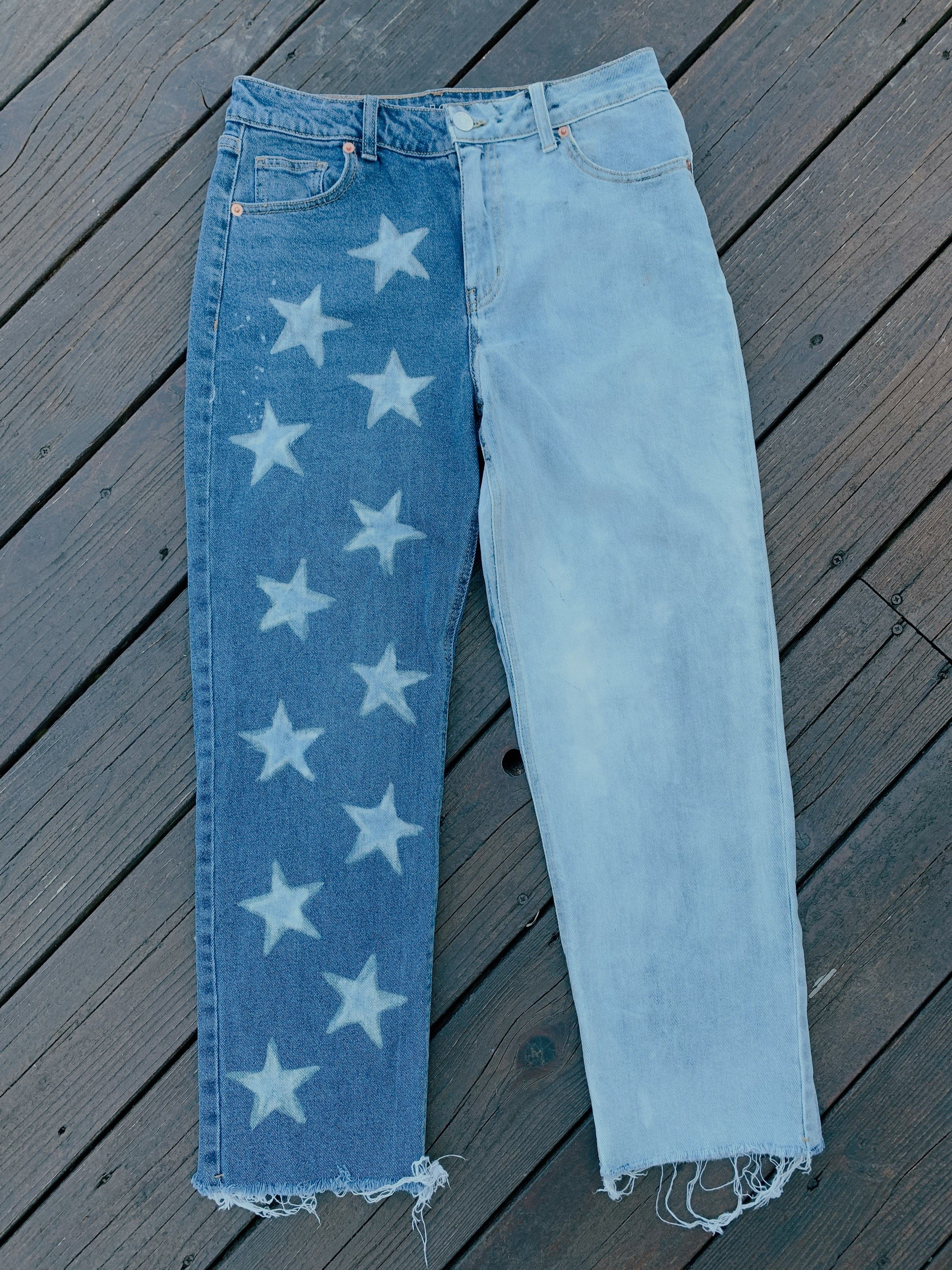 Star Bleached Jeans In 2020 Bleach Jeans Diy Bleached Jeans Star Jeans