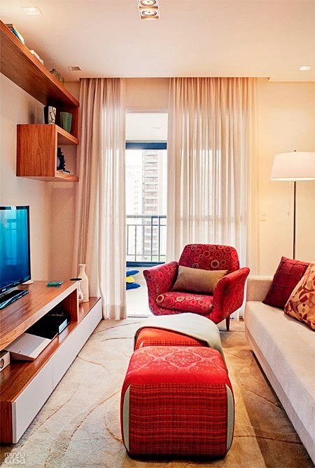 Living Rooms · Decoração De Salas Estreitas Part 95