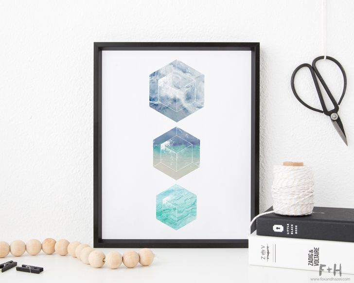 Fill your frames with these 3 free geometric minimalist art prints