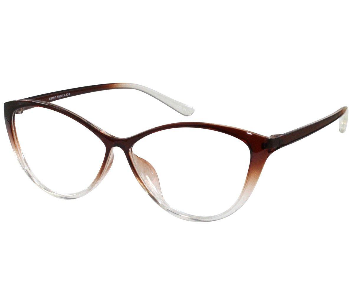 59b23aaf6c66 Ebe Bifocal Women Reading Glasses Reader Cheaters Cat Eye Brown TR90 Flex