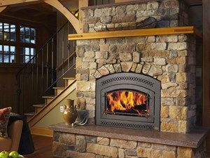 Wood burning fireplace insert | Fireplace | Pinterest | Wood ...