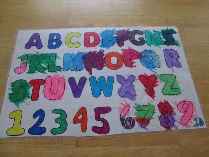 DIY ABC\/123 Chart Preschool at Home Pinterest Chart, Abc - abc chart