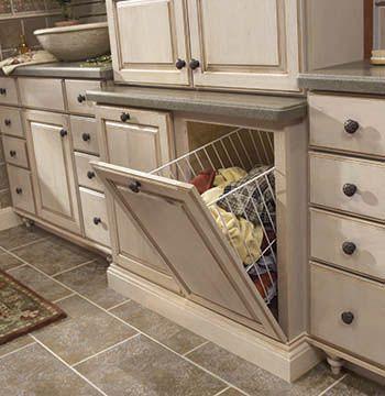 tilt out and removable vanity hamper cabinet (merillat