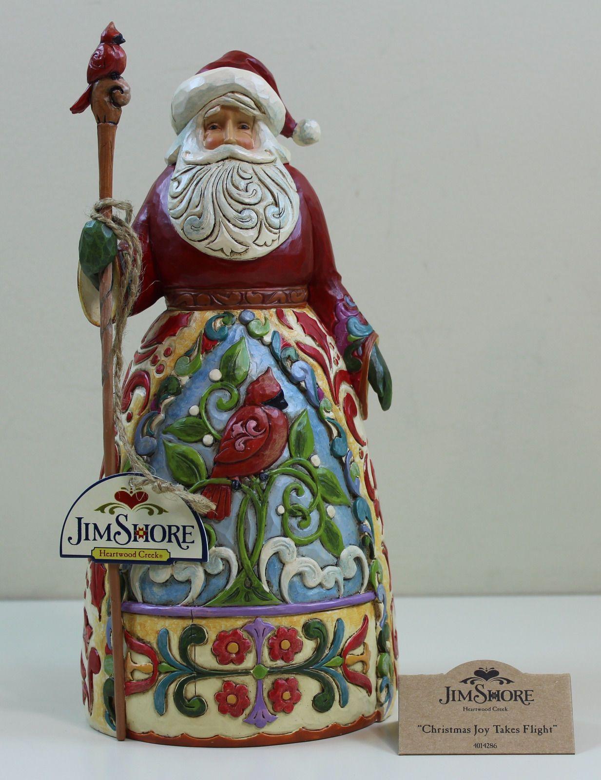 Rare Enesco Jim Shore Christmas Decoration Christmas Joy Takes Flight Mint Ebay