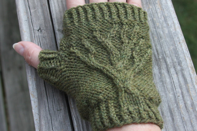 Tree Of Life Fingerless Gloves Knit Pattern Pdf Yarn Things