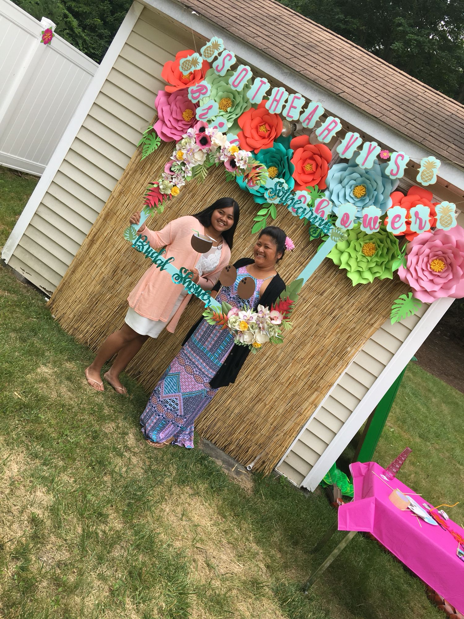 luau backdrop summer party plans pinterest party planning