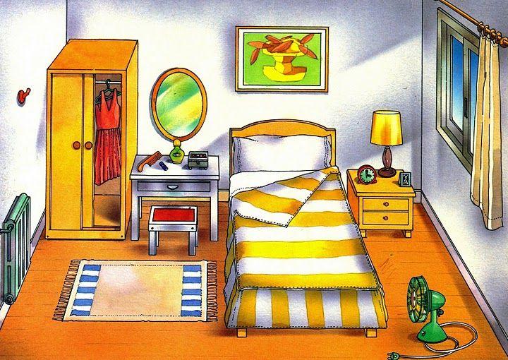 El dormitorio l minas de expresi n oral pinterest for Dormitorio animado