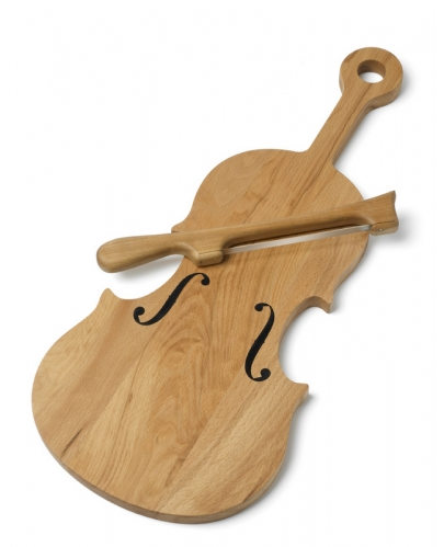 This Violin Cheeseboard Complete With Bow Knife