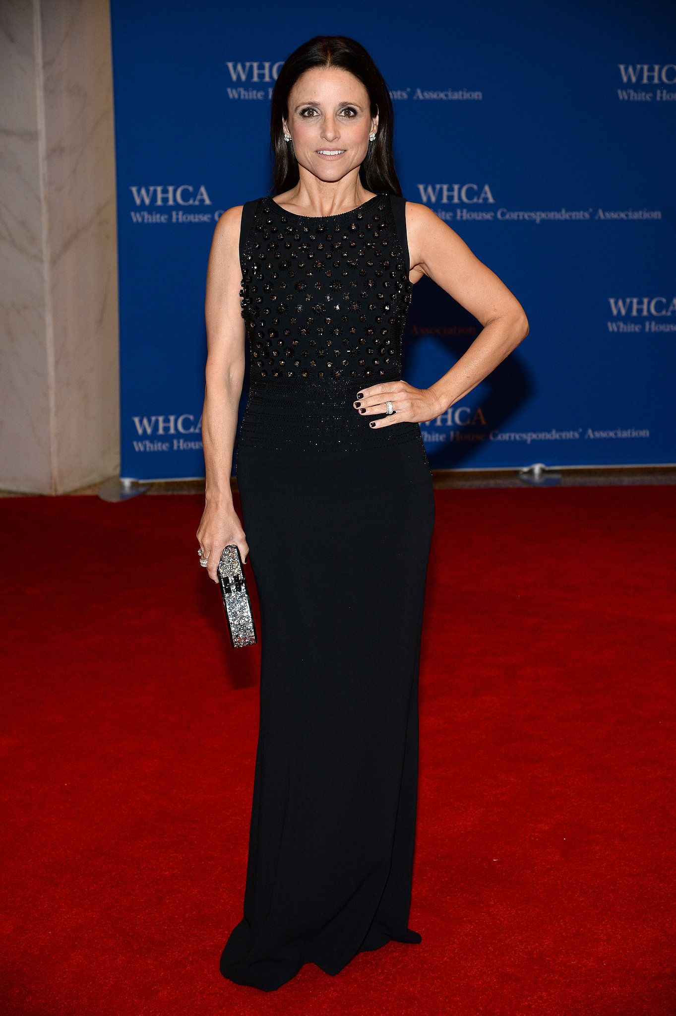 Julia louisdreyfus had her turn on the red carpet celebrity