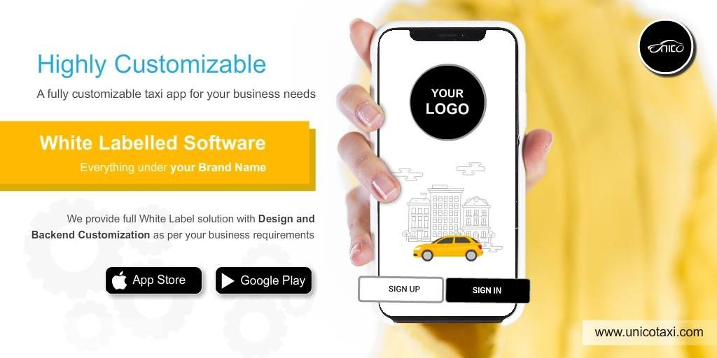 UnicoTaxi A fully customizable taxi app for your