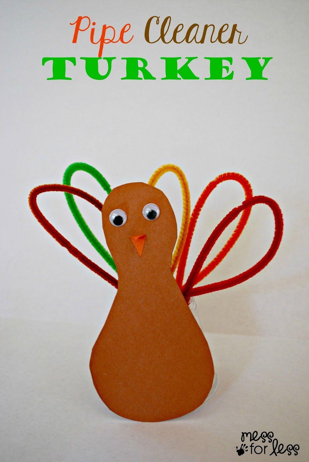 thanksgiving crafts for kids pipe cleaner turkey turkey craft