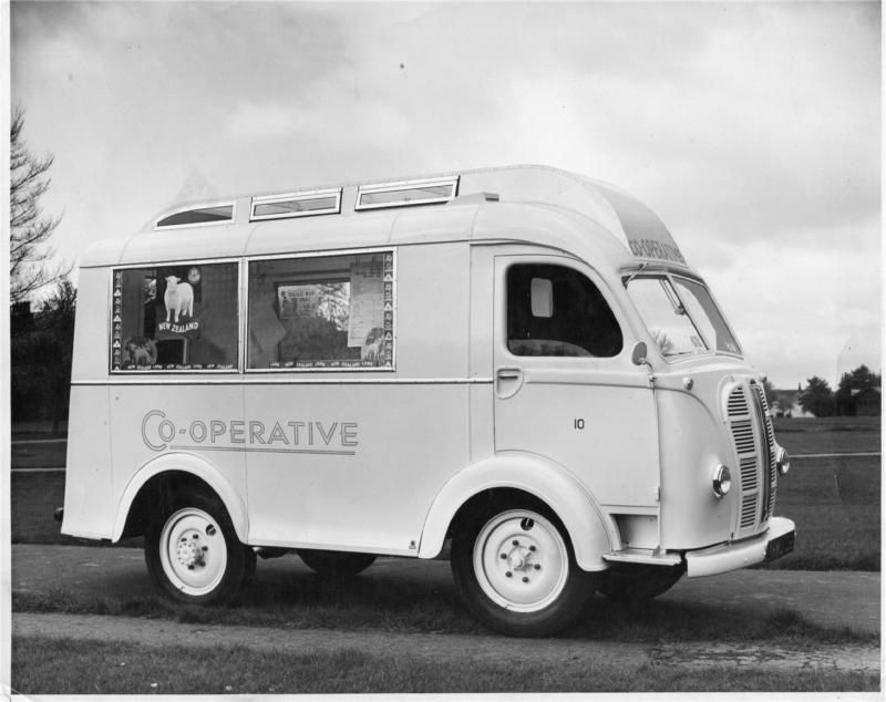 792021cde6cc89 ORIGINAL PHOTOGRAPH OF CO-OPERATIVE MOBILE SHOP VAN HARROGATE 1960s ...
