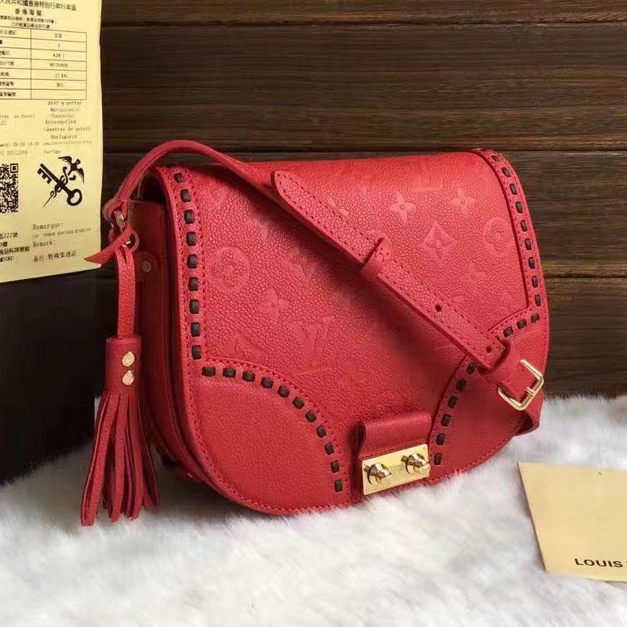 56108ecb42cfe Louis Vuitton Monogram Empreinte Junot Bag M43143 Red 2017