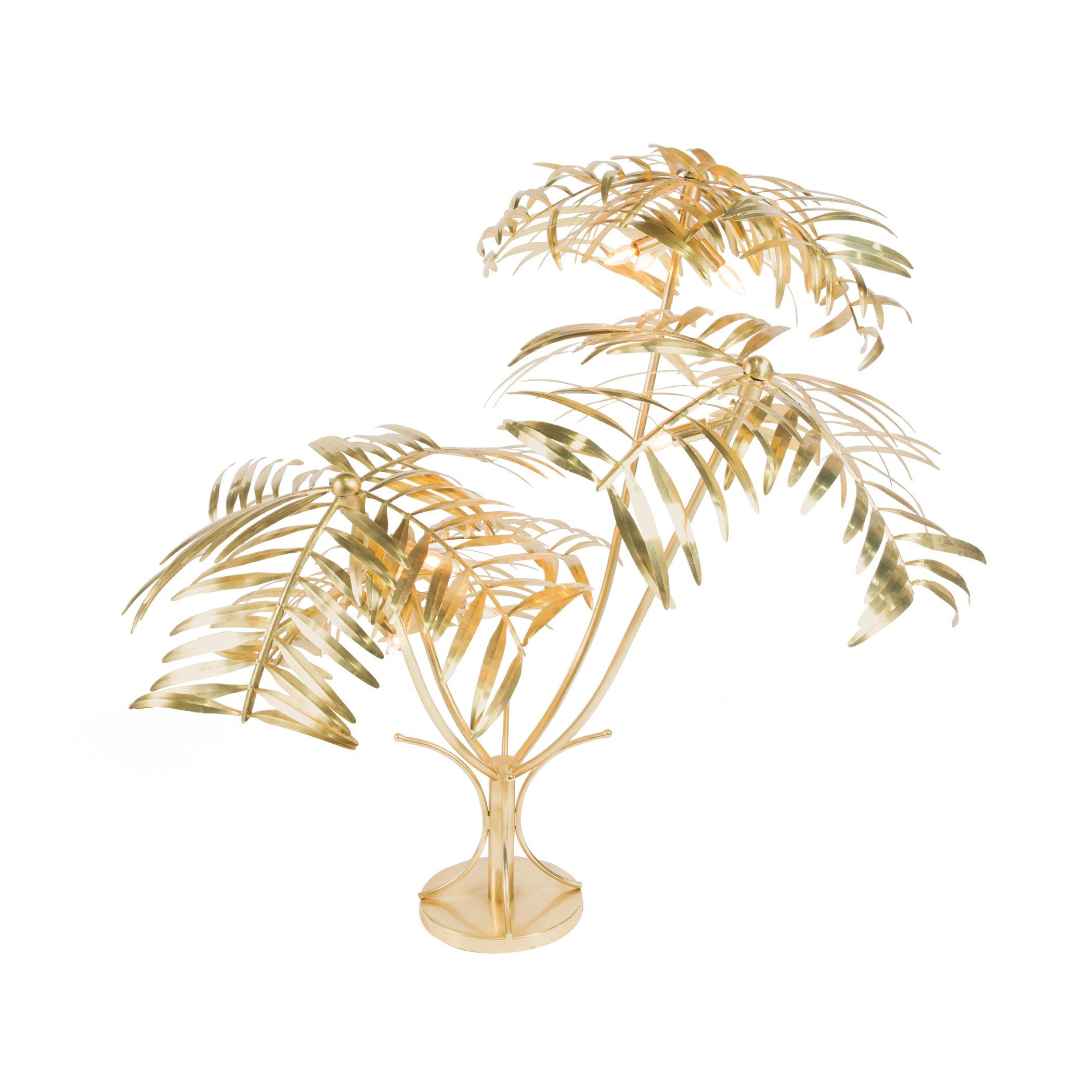 Gold Palm Tree Metal Floor Lamp In 2019 Gohome Floor