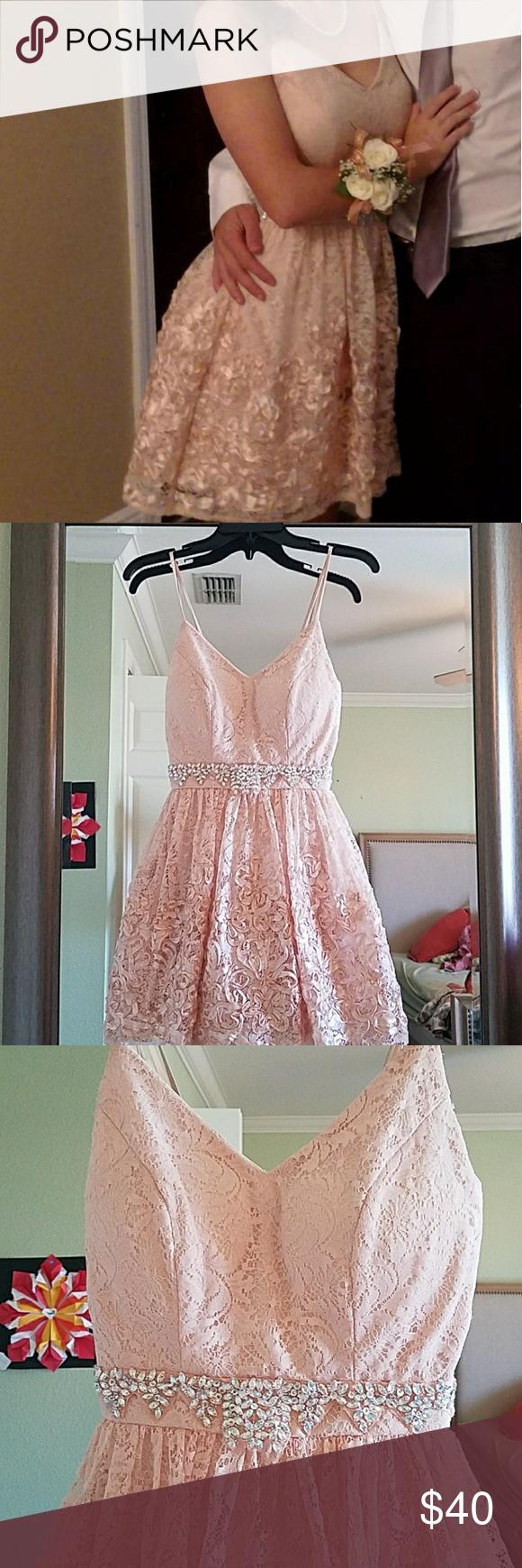 B darlin event dress short b darlin dress light pink to nude