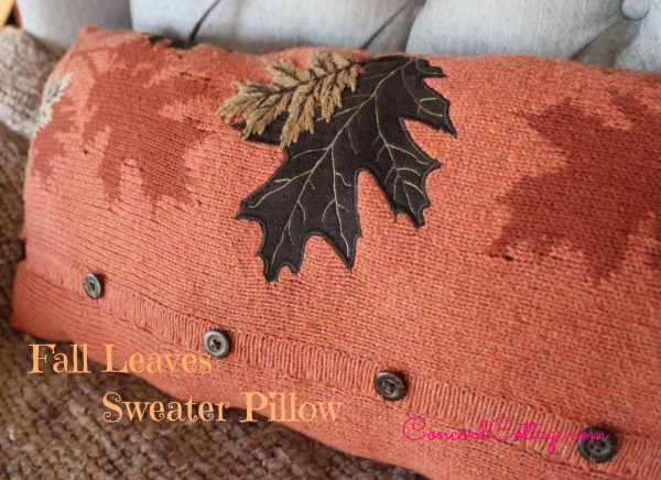 Beautiful fall pillows from a repurposed sweater.. so pretty!