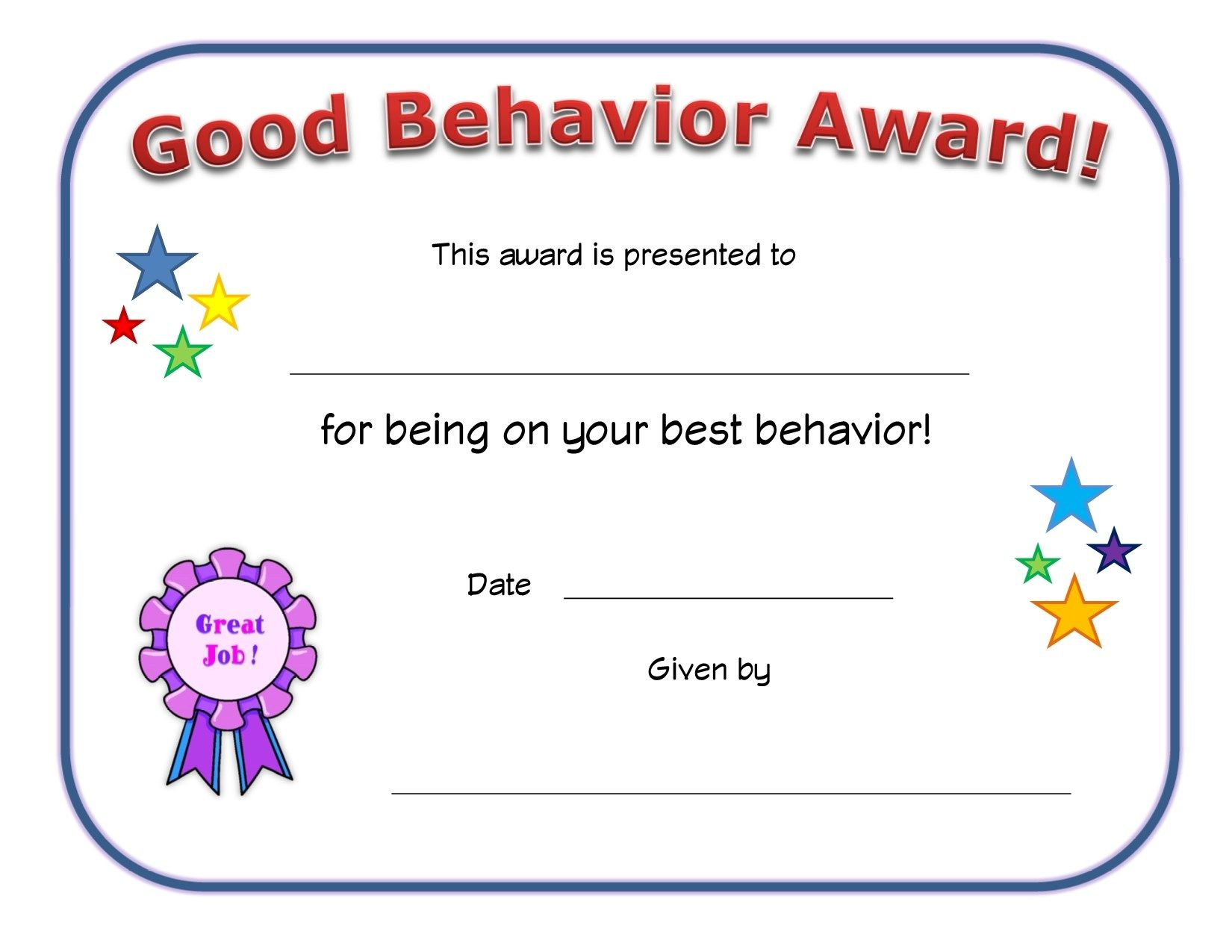 image about Printable Certificates for Students named optimistic routines award certification Clroom Preschool