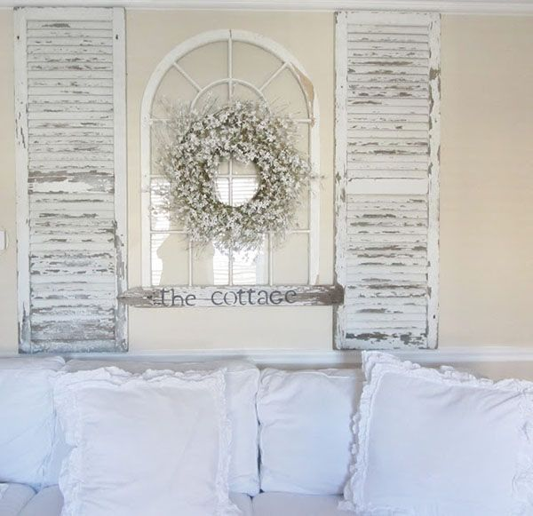51 Creative decorating ideas for old windows   Shutter headboards     Creative Uses for Old Windows 39 1 Kindesign