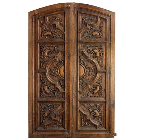 Portera's Antique Spanish Doors Tell a Story - An 18th Century Spanish Door; Perhaps Too Baroque For Our Home, But