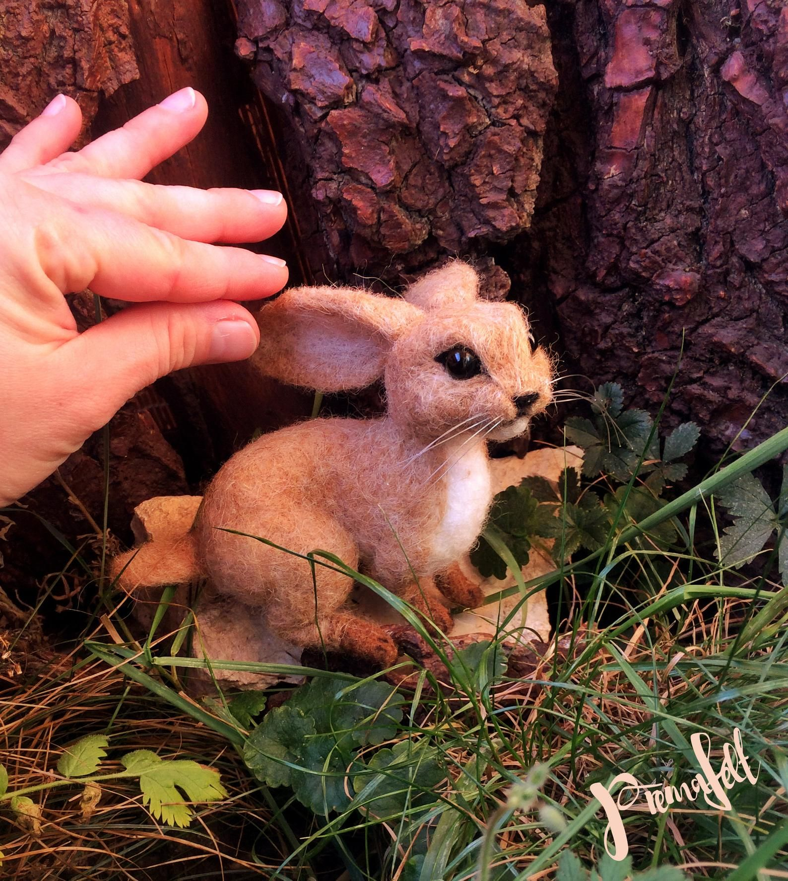 Süße Nadel gefilzt handgemachte RED FOX Figur, flauschige
