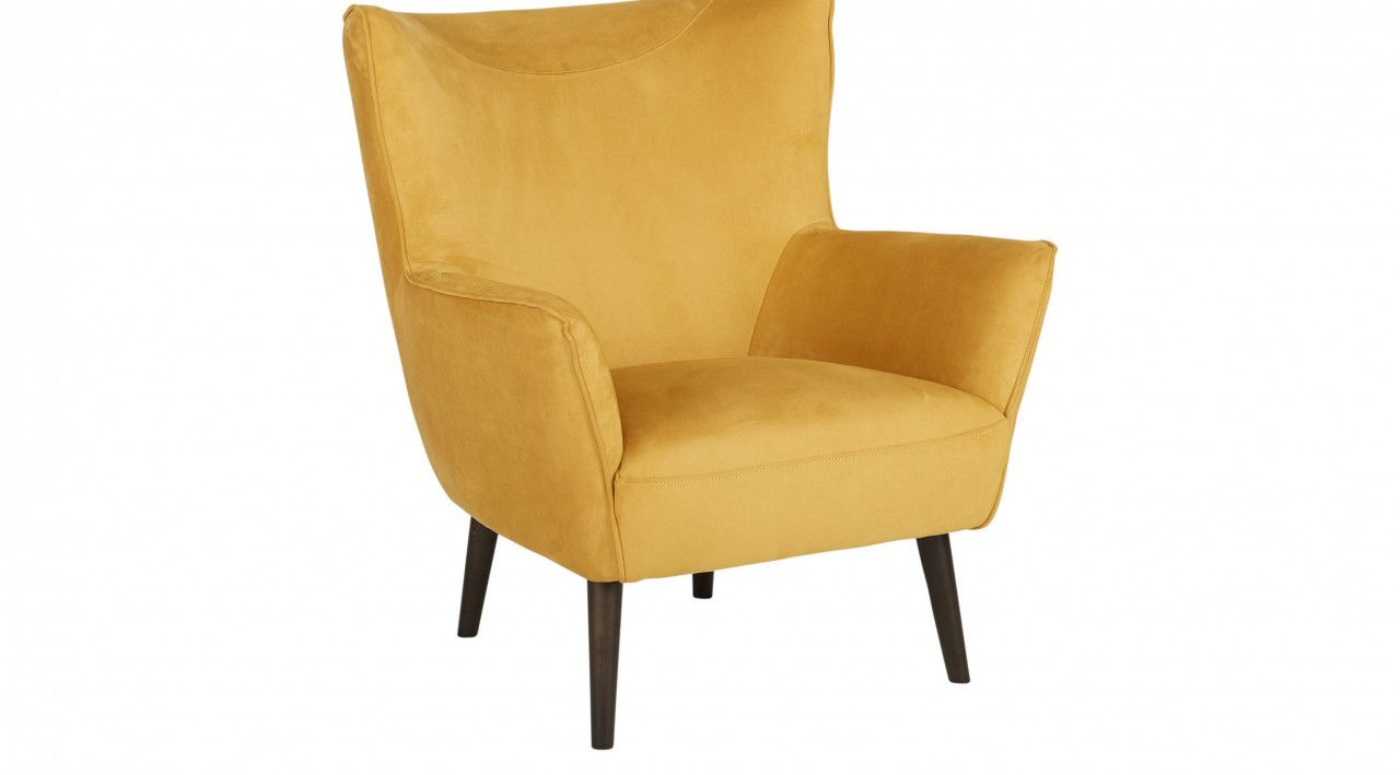 Mustard Yellow Accent Chair Best Spray Paint For Wood Furniture