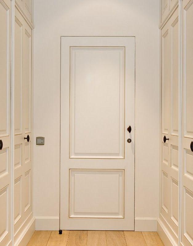 Painted Door With Steel Jamb And No Door Trim Interiors