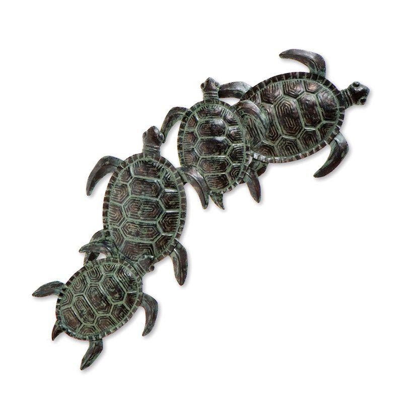 Sea turtle metal indoor outdoor wall art outdoor wall art at hayneedle