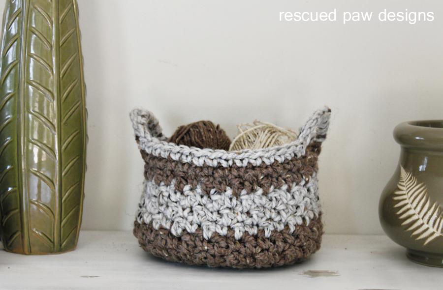 Crochet Basket Pattern | Bolsos