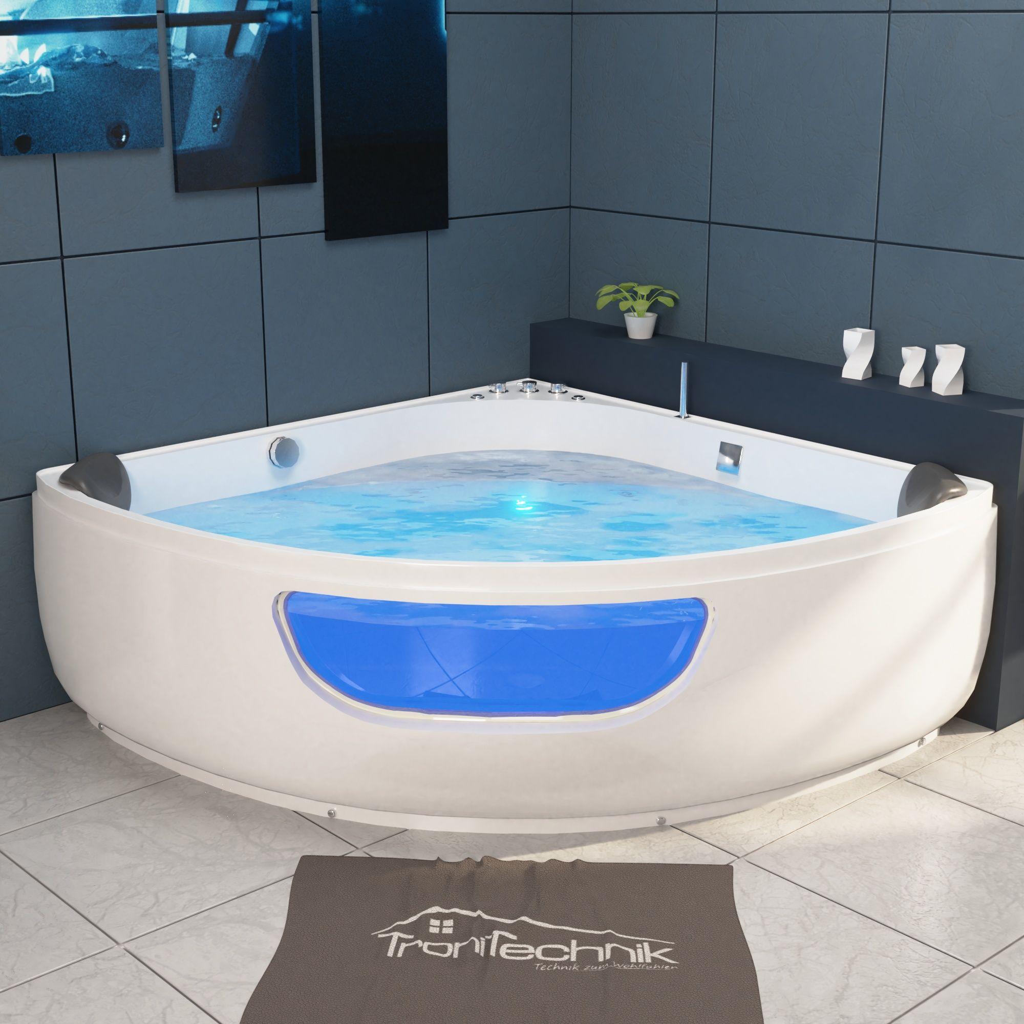 Whirlpool Paros 135x135 Badewanne Whirlpool Badewanne Farblichttherapie