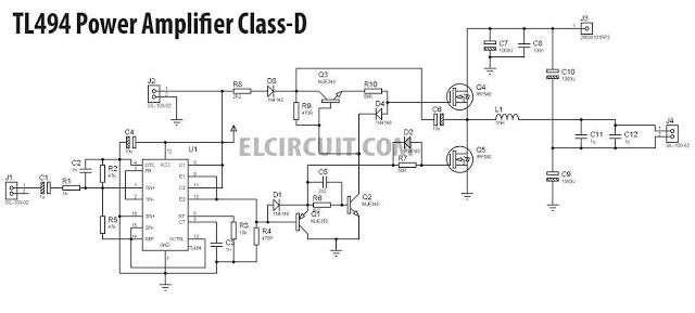 Diy 500w Class D Tl494 Switching Amplifier Amply Hay Pinterest
