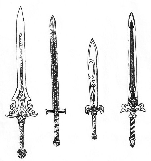 Swords Drawings And Google Search On Pinterest Weapons border=