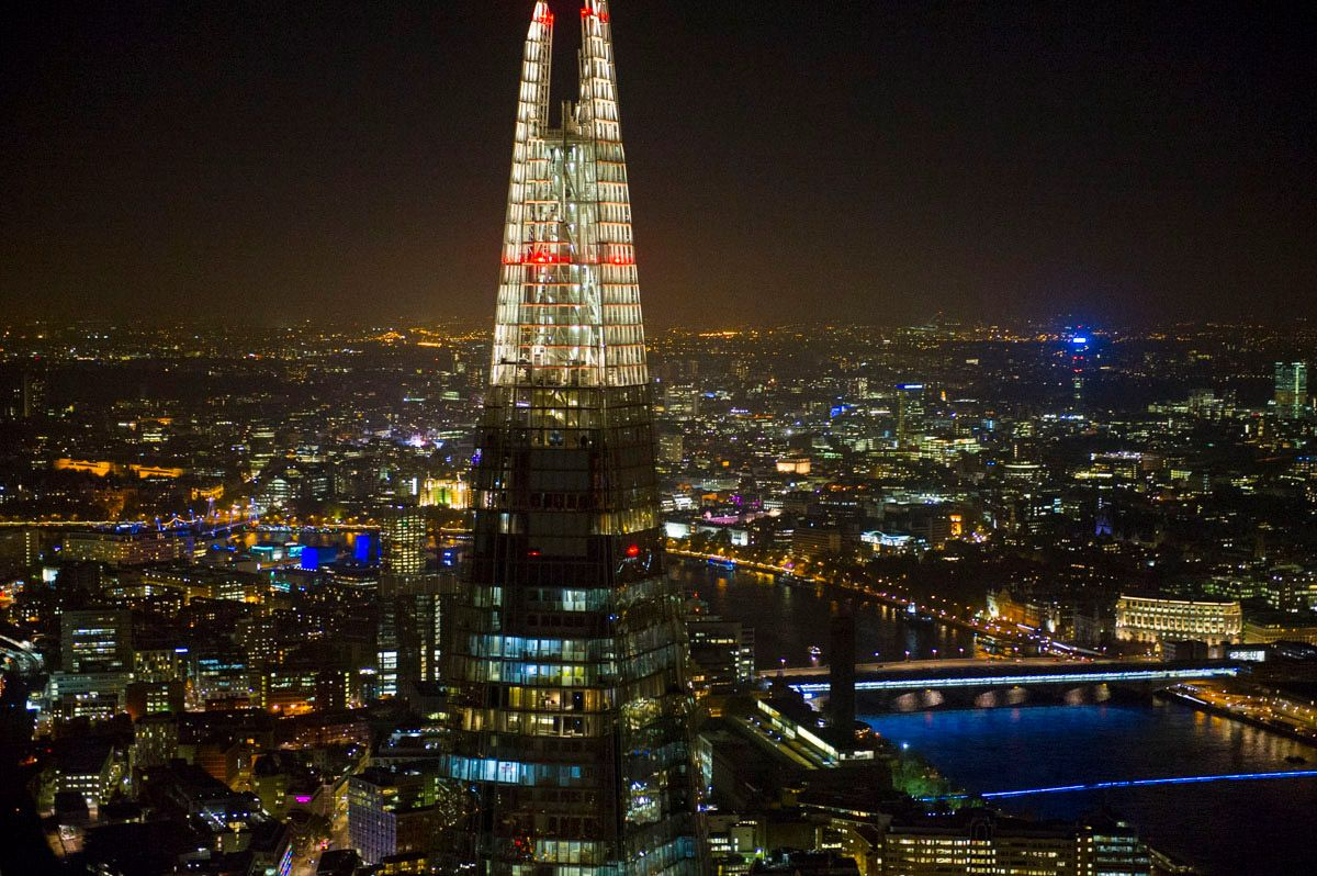 The View From Shard Observation Decks At Top Of Building