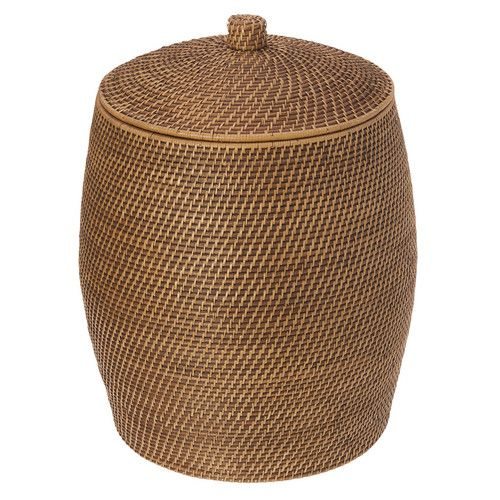 Kouboo Beehive Rattan Laundry Hamper With Cotton Liner Laundry