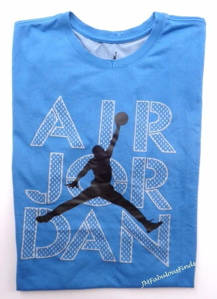 0a534b0e2628c Nike Mens Air Jordan Jumpman Blue Black Basketball T-Shirt Medium  920919-494 NWT  Nike  ShirtsTops