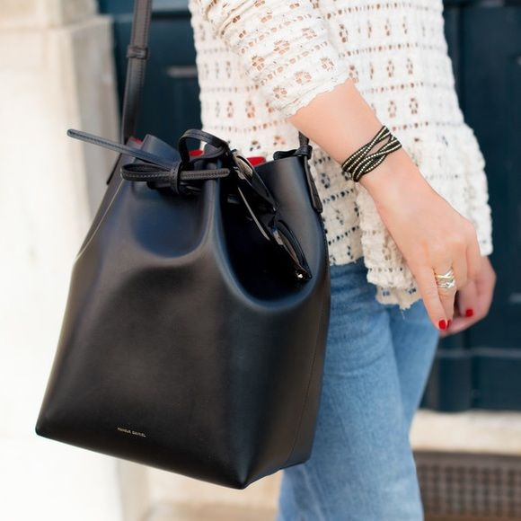 44de3424596c Authentic Mansur Gavriel bucket bag New with tags! This large black flamma  Mansur Gavriel bucket bag is THE bag to have and nearly impossible to get a  hold ...