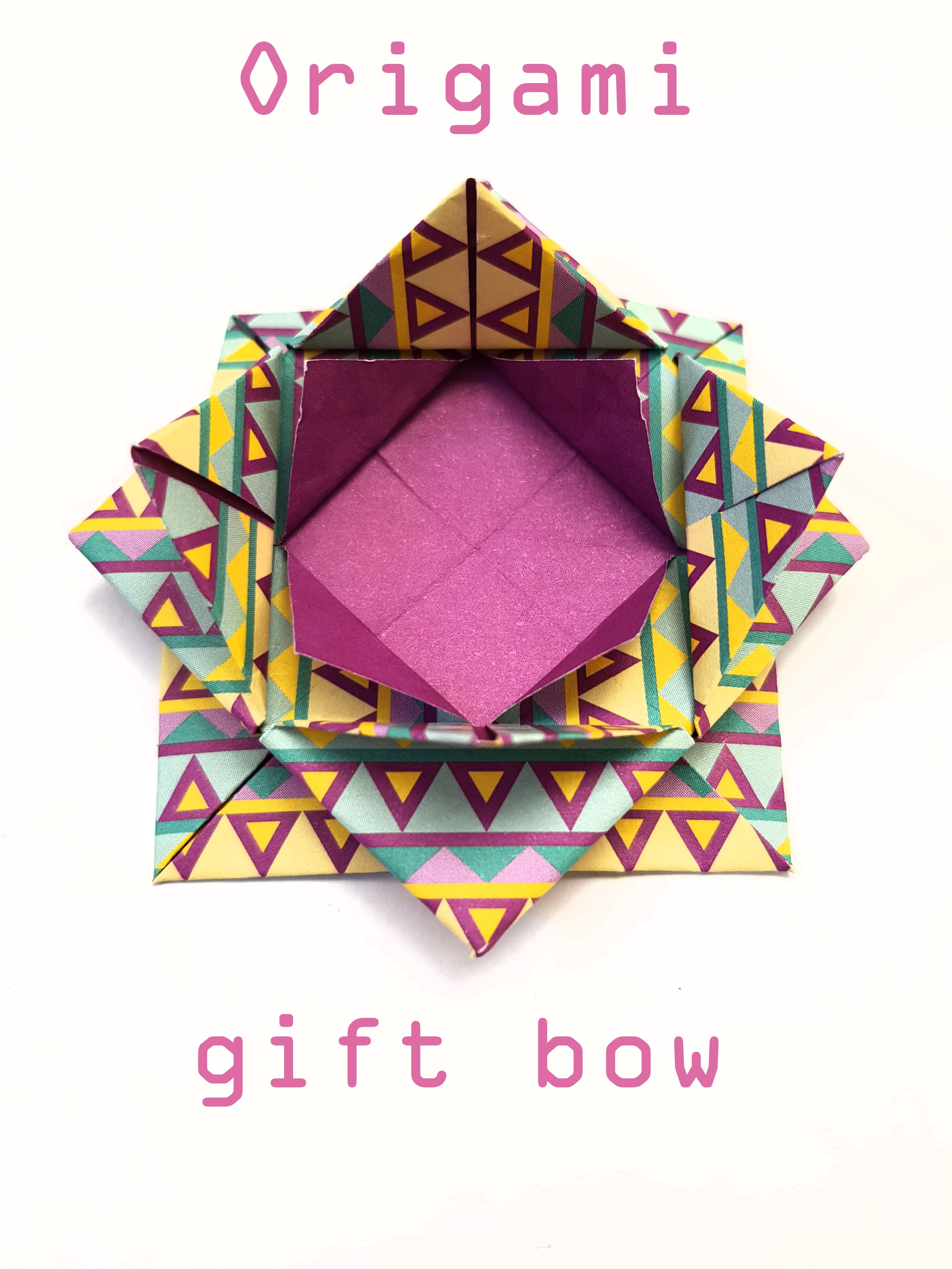 Origami Gift Bow Folded By Me Giftbow Paper Purple